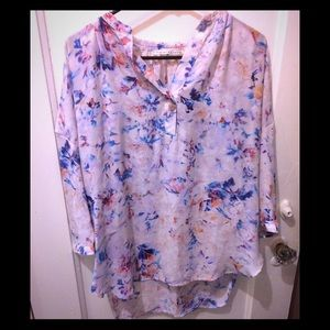 Anthropologie Hi-Lo Floral Tunic - Sz M